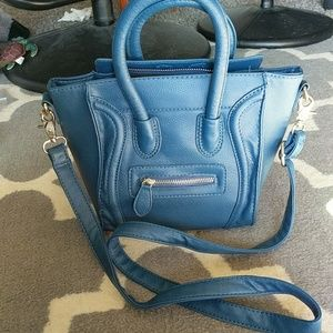 Nwot denim blue mini smile Mini Crossbody Bag
